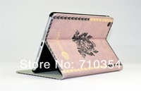 FreeShipping New Arrival Classic Retro European PU leather Case stand Cover book pouch protective skin shell for Apple iPad Mini
