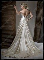 Свадебное платье A-line One Shoulder Sleeveless Satin Wedding Dress With Bow MD-B063
