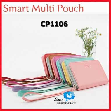 WHOLESALE wallet pouch imitation leather fashion coin burse smart multi bag protable handbag say hi promotion gift CP 1106