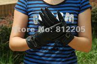 Женские перчатки из кожи GUANGYU fastoner 037/2 leather037 men  balck leather gloves with buckle strap fastoner