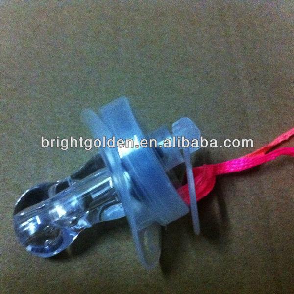 Bar led whistle flashing pacifier nipple