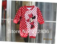 Детский комбинезон 1PC Retails Newborn infant baby bodysuit Rompers 100% cotton mickey Minnie Cartoon Model Jumpsuits