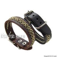 Ювелирное изделие Fashion cheap leather belt cuff bracelet 3 colors