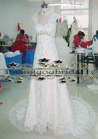 2012 Real Sample Luxury Swaroviski Lace wedding dresses REAL-01
