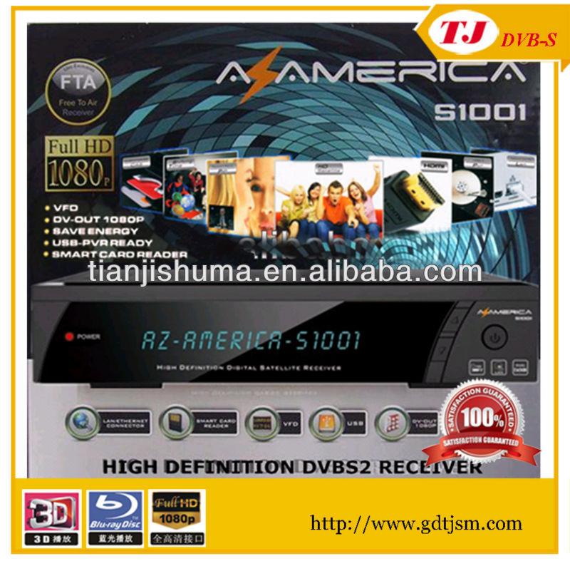 Original satellite Receptor Azamerica S1001 Az america s1001 hd iks sks nagra 3 decoder for South America