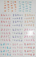 5sets/lot(55 sheets) Nail Stickers Nail art Water Transfers Decal Feathers Fruit  Flowers Free Shipping