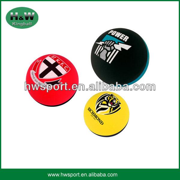 Hot sales hollow half color rubber balls,hollow bouncing ball