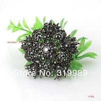 Min Order USD15!P297-048!Free Shipping!Metal Alloy Rhinestone Flower Brooch Pins Fashion Costume Bridal Jewelry Big Discount