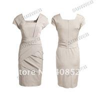 Женское платье 3pcs/lot Black Apricot cotton Women's Lady Business Office Trendy Fashion Elegant OL Dress 3350
