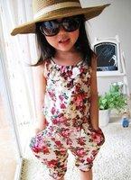 девушки летом суспендер брюки девушка цветок Комбинезоны детские комбинезон девушка брюки детей свободные брюки 5шт/лот