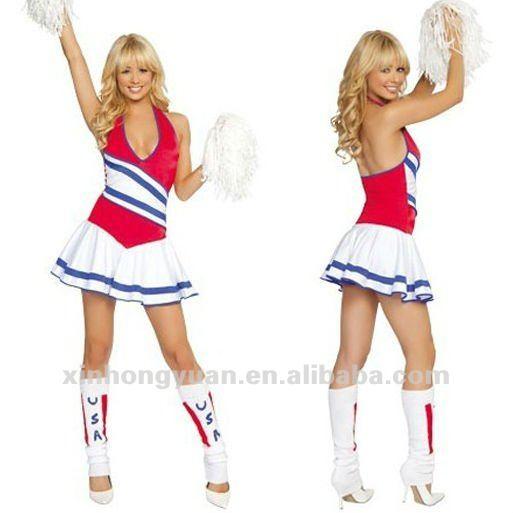 Cheerleader sexy en calcetines uniformes