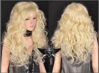 Парик GW256 Blonde Long Wavy Lady Lolita Cosplay Full Wig