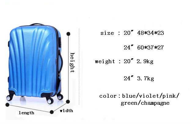 candy zipper travel bag luggage bag