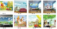 Обои factory price, - DIY fresco, mural wallpaper, backgroud wall paper, cartoon Micky, nonwoven fabric KT-20