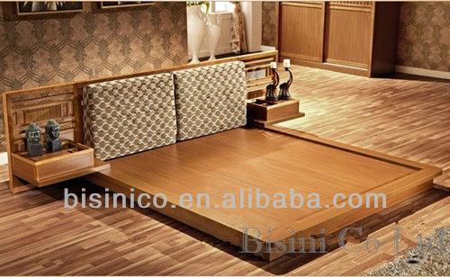 design japonais meubles de chambre coucher en bois ensemble japonais tatami lit avec night. Black Bedroom Furniture Sets. Home Design Ideas