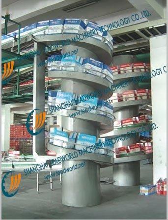 high speed spiral lifting conveyor