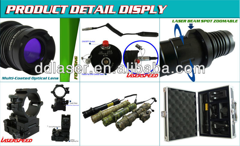 Beam Diameter Adjustable Green Laser Illuminator, long range laser light