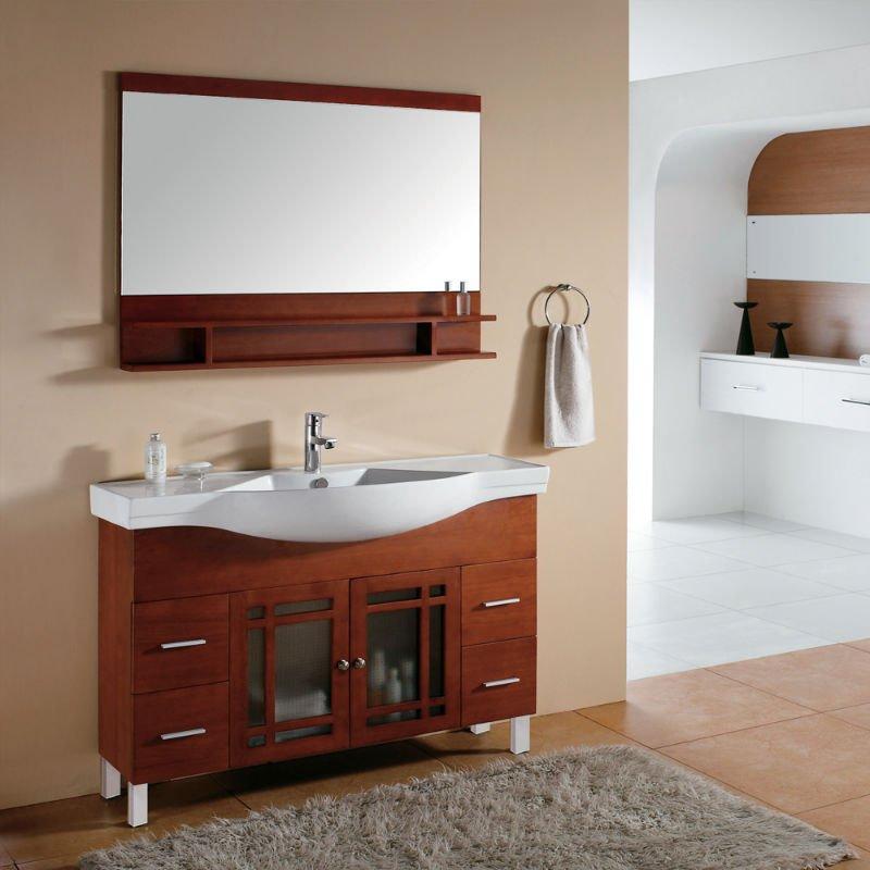 Classique meubles de salle de bains vier et armoire unit - Meuble en coin salle de bain ...