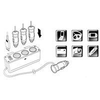 Кабели, переходники и розетки для авто 3 Way Car Cigarette Charger Socket Adapter+USB #0001