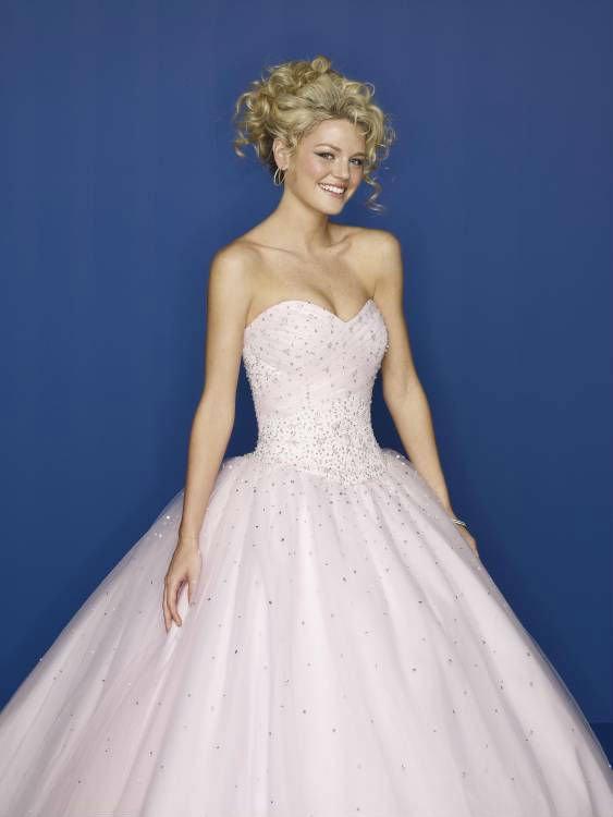 Light Pink Ball Gown Sweetheart light pink