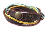 Браслет SL268/PU leather bracelet, high quality, casual color rope bracelet, fashion jewelry, 100%handmade jewelry