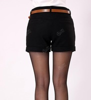 2013 Loose Lady Woolen Shorts Size S-2XL 100% Fashion Casual Women Straight Short Trousers Free Shipping H8809