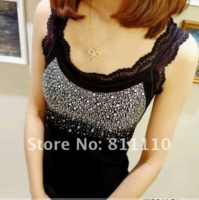 Fashion collarband ironed ablazely condole belt of cotton thread joker aglet of lace small vest