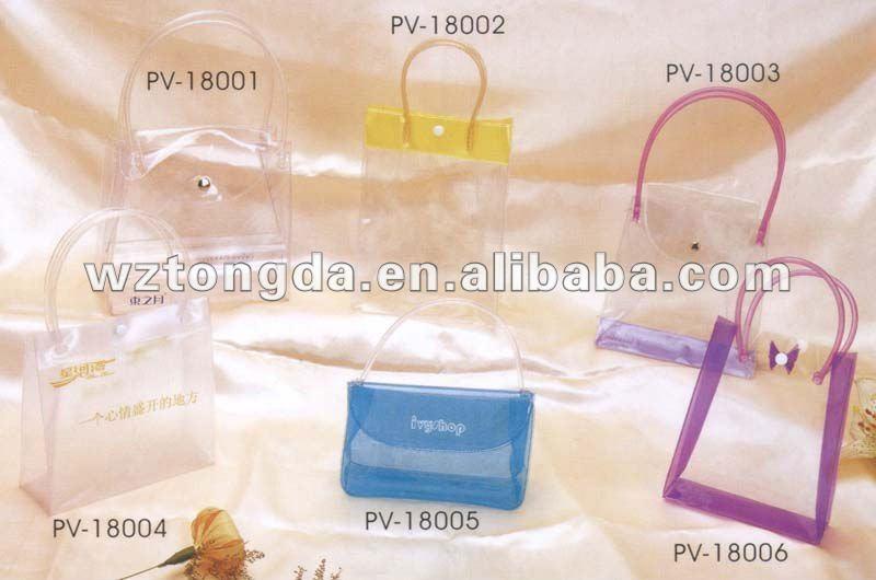 pvc shopping bag , plastic pvc bag with full color