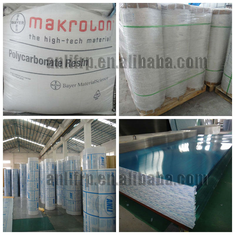solar roofing polycarbonate sheets for greenhouses