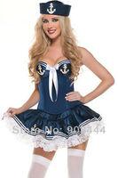 Женский эротический костюм 2013 Sweety Navy Sailor Costume Dress for women Sexy Sailor cosplay Party dress Club dress DL2554