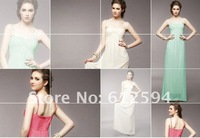 Free shipping 2012 new arrival fashion sexy women evening ceremonial dress support wholesale (red and green color)