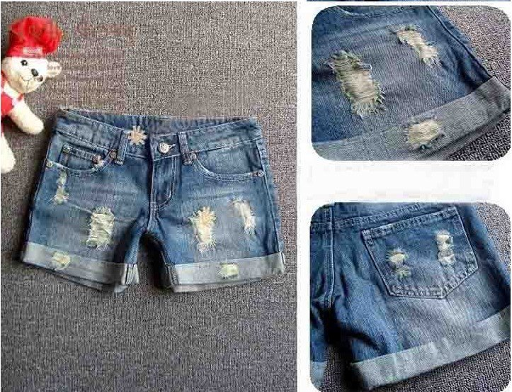 Lady denim shorts,women's jeans shorts,hot sale ladies' denim short pants size:S M L,XL,XXL,free shipping