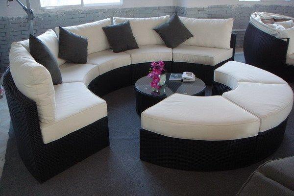Outdoor Patio Furniture Semi Circle Rattan Wicker Sectional Sofa Buy Patio Furniture Wicker