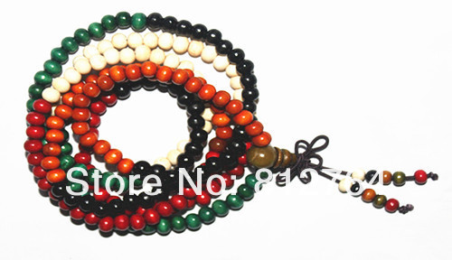 YLJ04WM-001A-1 216 6mm Colorful Sandalwood Beaded Bracelet.jpg