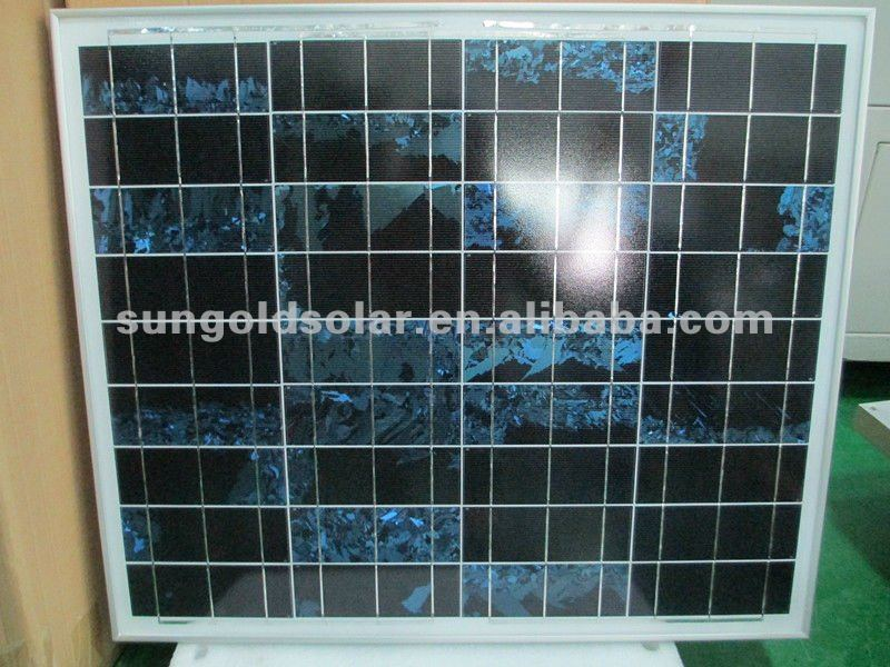 solar cells solar panel poly 60w18v with cables and plugs
