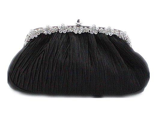 Newest Opera USA Womens Banjara Bag Bohemian Boho Embroidery Handbag Purse -Black