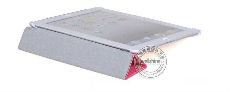 For Ipad 2 Case Cover,Football Grain Style PU Leather Tri Fold Case Cover for Ipad 2/3/4 Wholesale