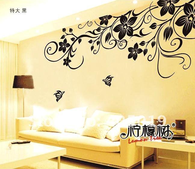 Dibujos para pegar en la pared imagui - Pegar vinilo en pared ...