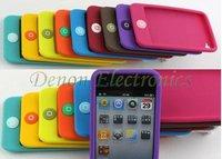 Чехол для для мобильных телефонов 10pcs/lot new 10 Colors Smart beans, chocolate beans Silicon Case for iPod Touch 4 4G 4TH