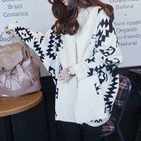 Женский кардиган New Women Aztec Oversized Open Front Loose Sweater Wrap Cape Geometric Print Cardigan