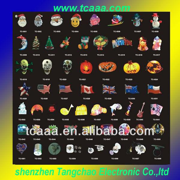 Colorful Custom Blinking Badges