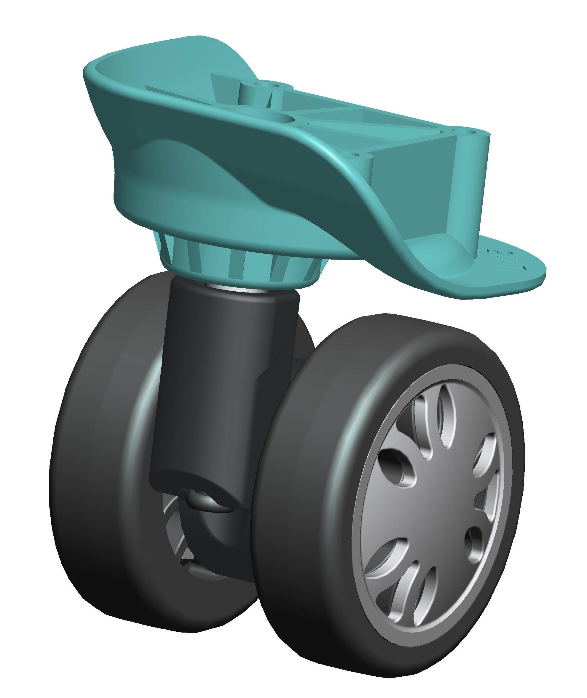 samsonite luggage wheels