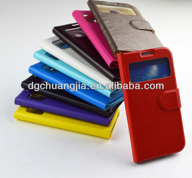 stylish pu leather cell phone case for samsung s4 i9500