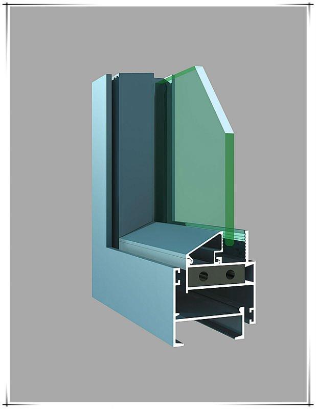 Pulverice el perfil de aluminio revestido para la puerta ventana contador accesorios - Perfiles de aluminio para muebles ...