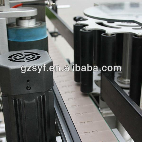 Top un-dry glue labeling machine/round bottle labeling machine