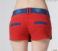 Женские шорты 2Pcs/lot 2012 Hot New Summer Korean Women's Stretch Jeans Skirt Double Rivet Denim Shorts