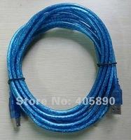 Детали для принтера 1.5m USB Print Cable Blue USB2.0 Data Cable Copper Core