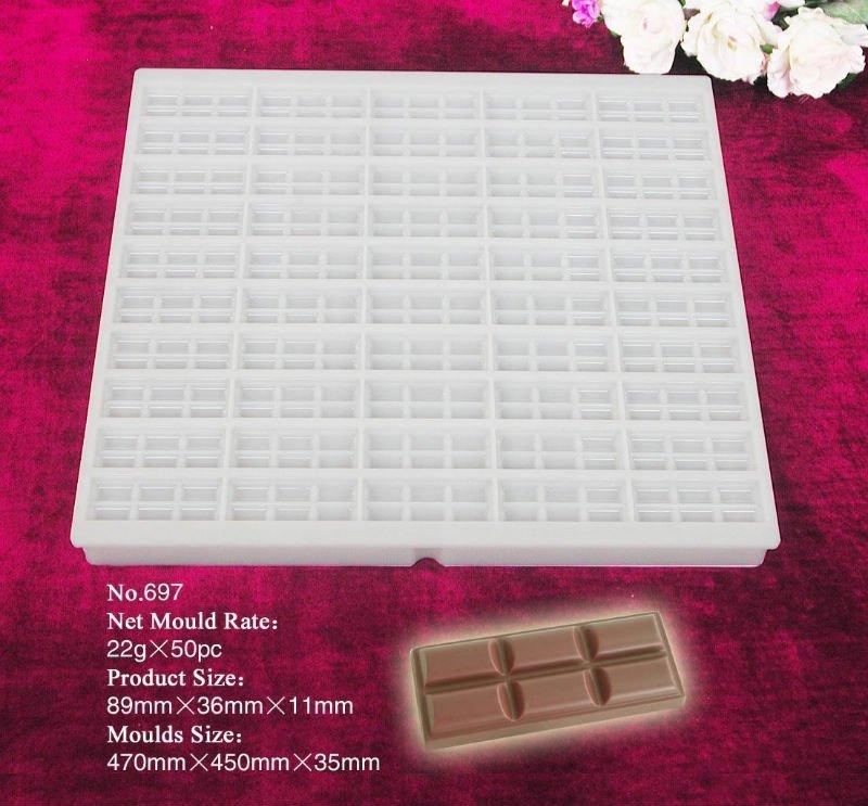 Pc de concreto moldes de plástico para chocolate