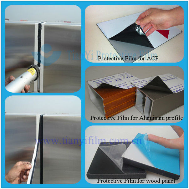 Stainless steel sheet blue plastic film