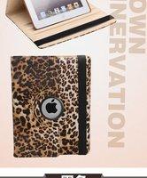 NEW ARRIVAL 360 Rotating Safari Case for iPad 2 3 Leopard Print Smart Swivel Cover for ipad Fashion Design